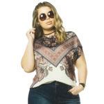 Blusa Feminina Plus Size </br> Estampada Habana