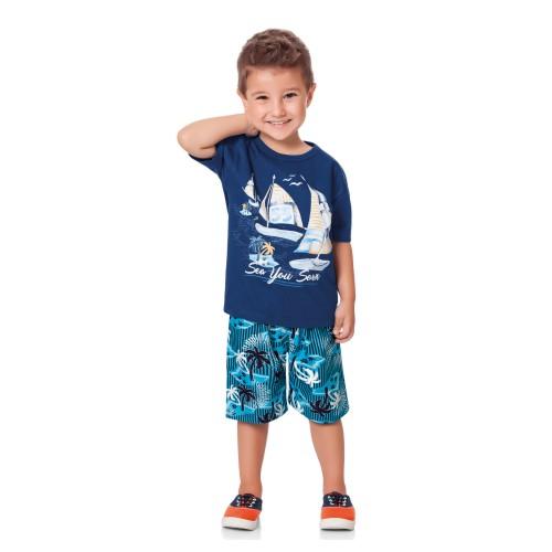 abba3eeb07eb24 Conjunto Infantil Sea You Soon Fakini