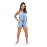 Macaquinho Short </br> Jeans Nattus