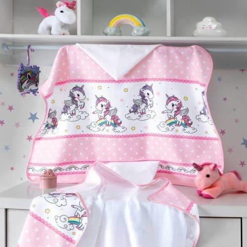 62260515e4 Toalha de Banho Capuz Fralda Unicórnio Dohler - Dimes Fashion